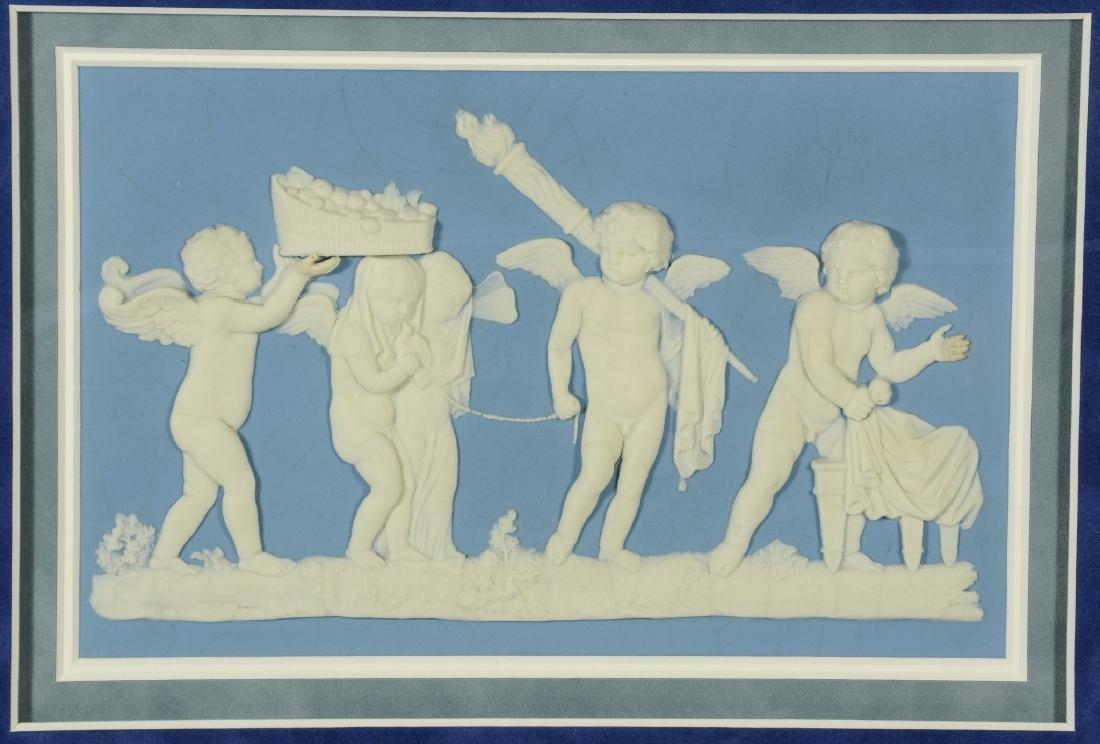Large Wedgwood light blue & white Jasper plaque