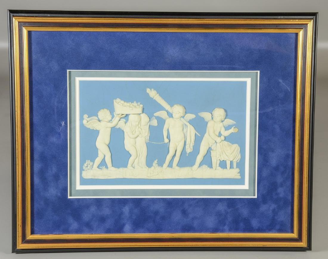 Large Wedgwood light blue & white Jasper plaque - 2