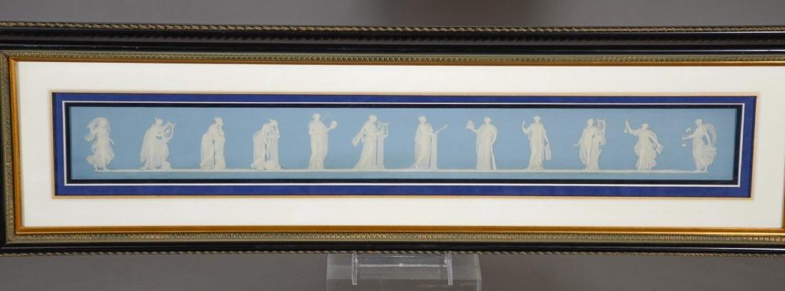 Pair of Wedgwood framed light blue & white Jasper - 2