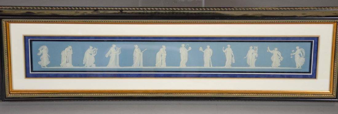 Pair of Wedgwood framed light blue & white Jasper - 3