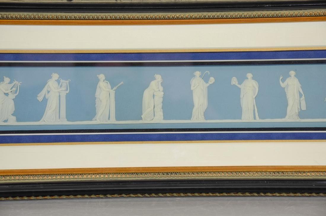Pair of Wedgwood framed light blue & white Jasper - 4