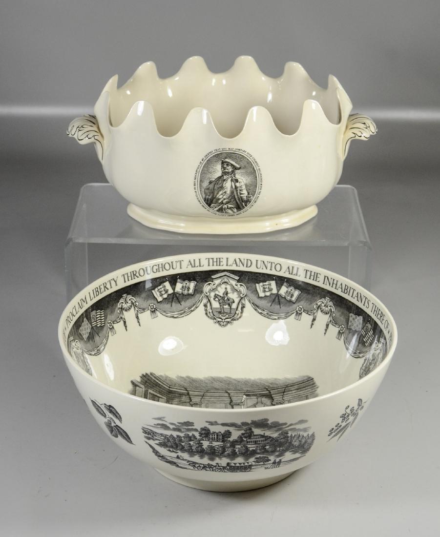 (2) Pieces Wedgwood creamware, Philadelphia Bowl &