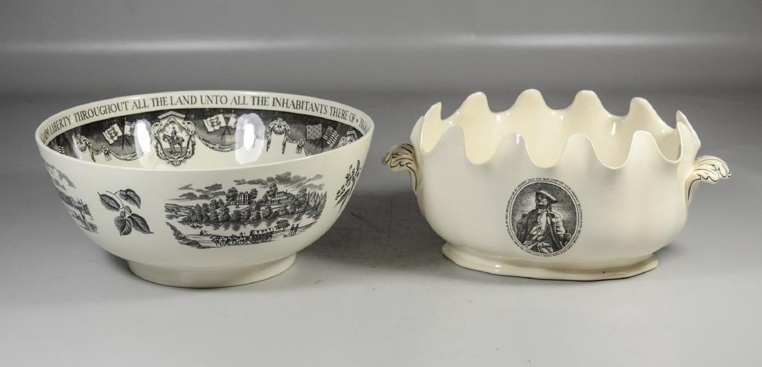 (2) Pieces Wedgwood creamware, Philadelphia Bowl & - 2