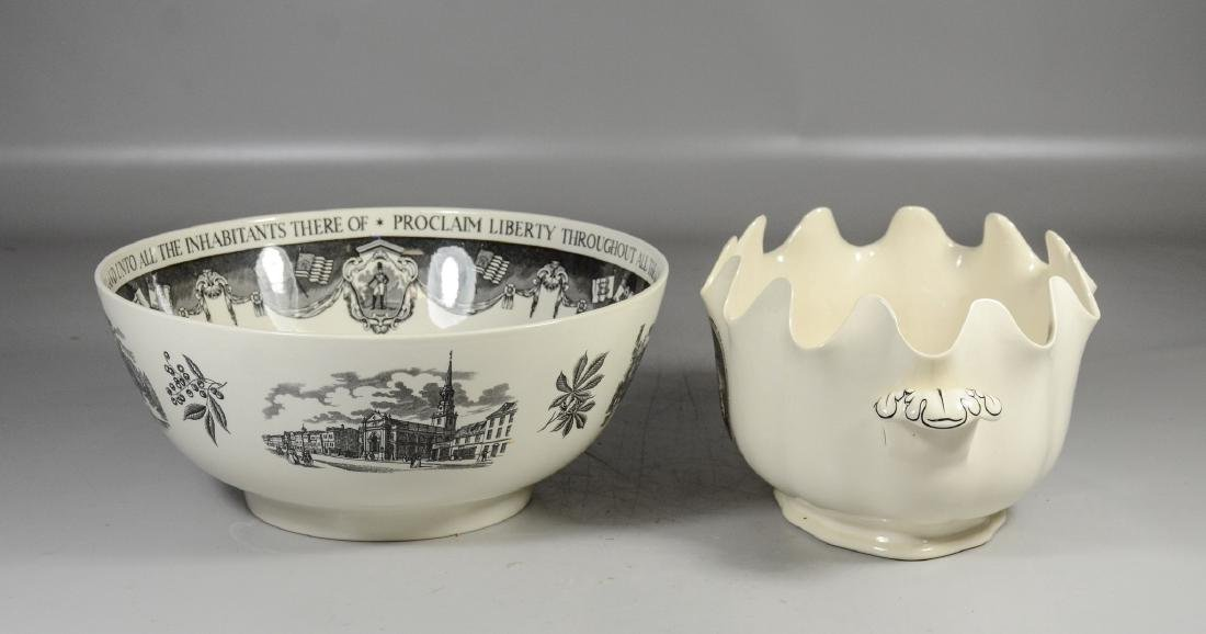 (2) Pieces Wedgwood creamware, Philadelphia Bowl & - 3