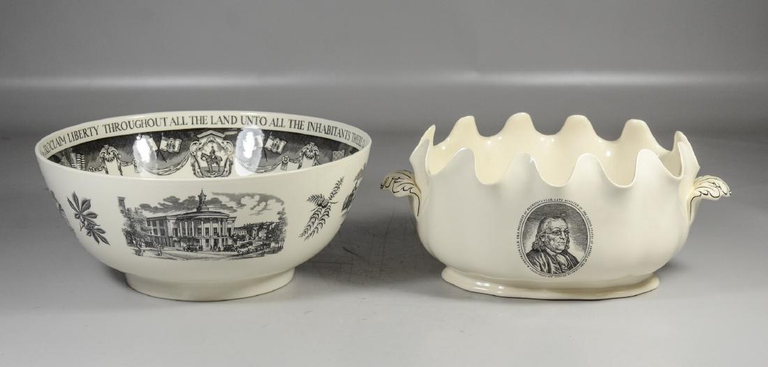 (2) Pieces Wedgwood creamware, Philadelphia Bowl & - 4