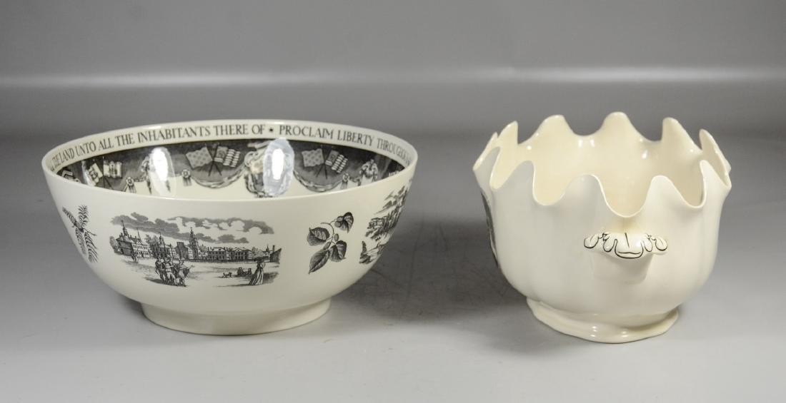 (2) Pieces Wedgwood creamware, Philadelphia Bowl & - 5