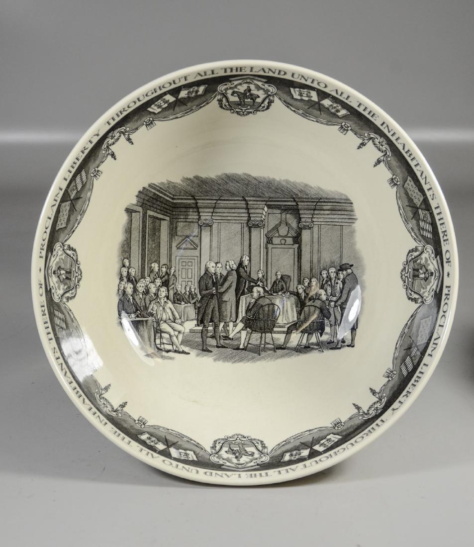 (2) Pieces Wedgwood creamware, Philadelphia Bowl & - 6