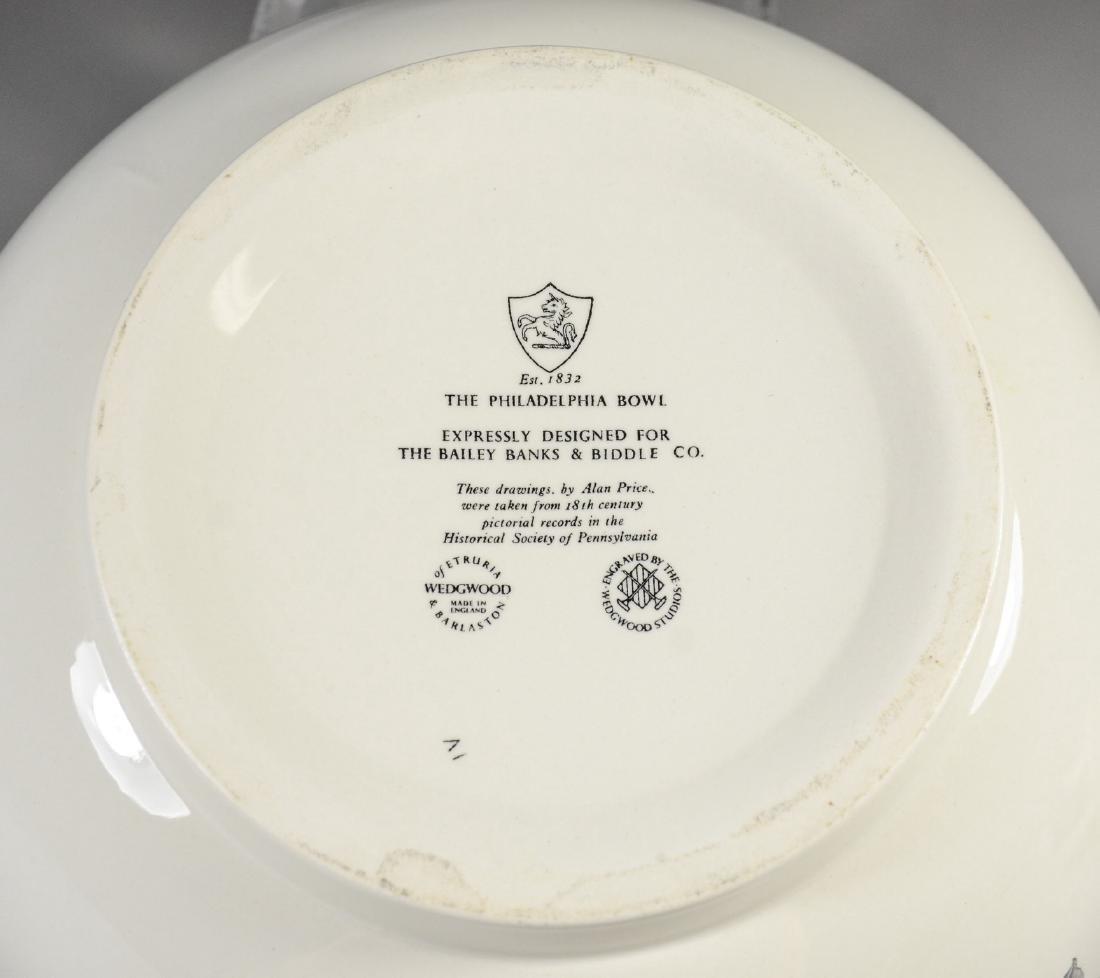 (2) Pieces Wedgwood creamware, Philadelphia Bowl & - 8