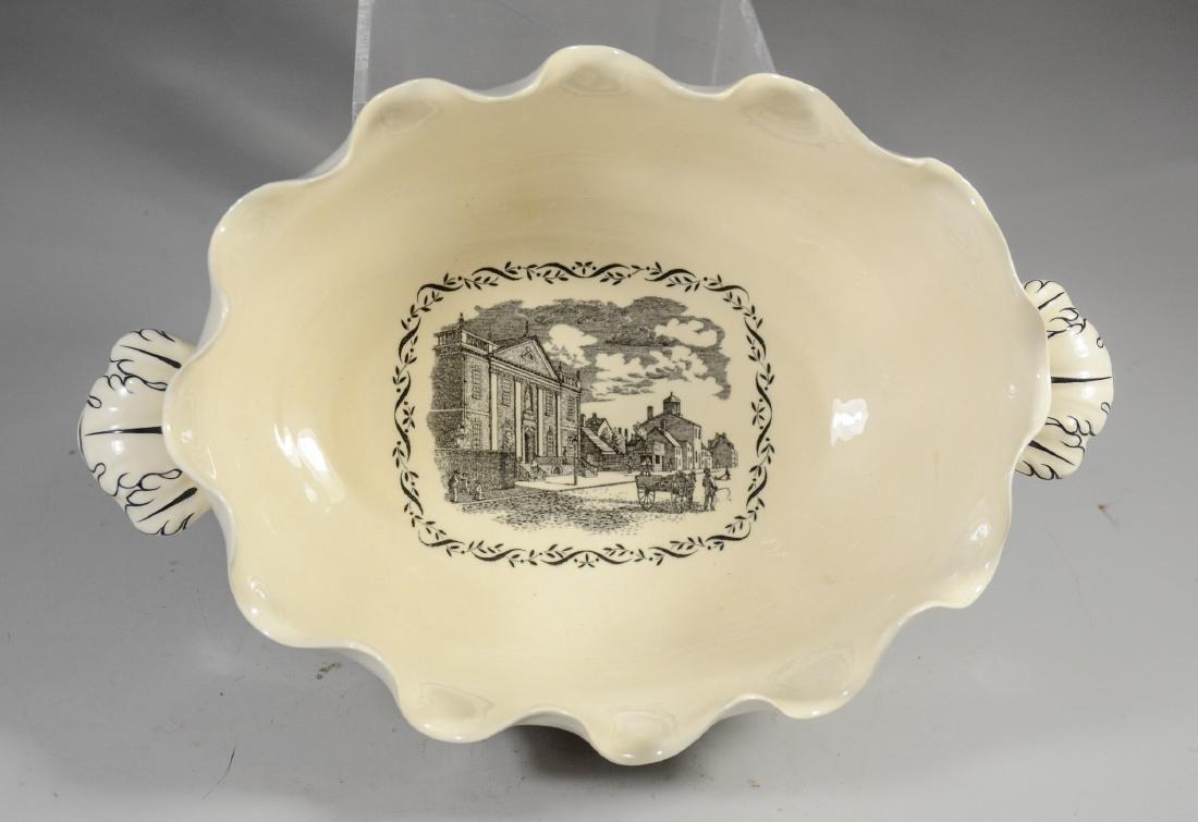 (2) Pieces Wedgwood creamware, Philadelphia Bowl & - 9
