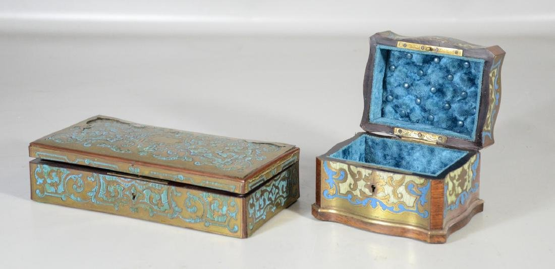 Two (2) Boulle to include a glove box with small areas