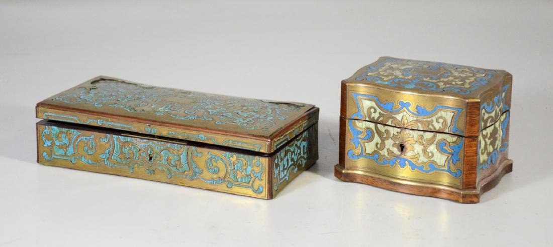 Two (2) Boulle to include a glove box with small areas - 2