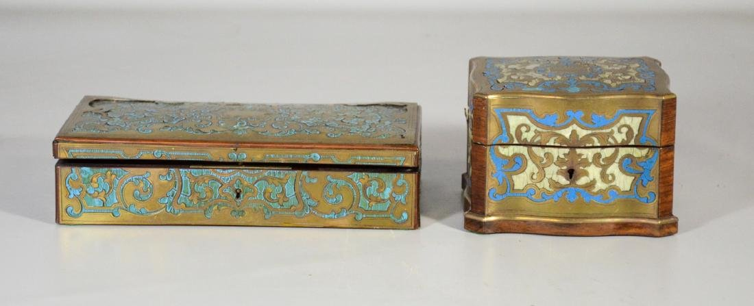 Two (2) Boulle to include a glove box with small areas - 3