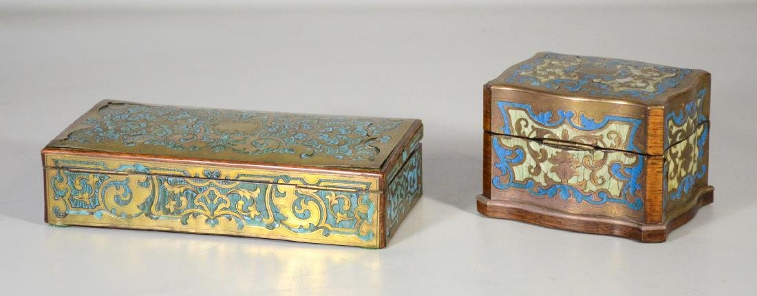 Two (2) Boulle to include a glove box with small areas - 4