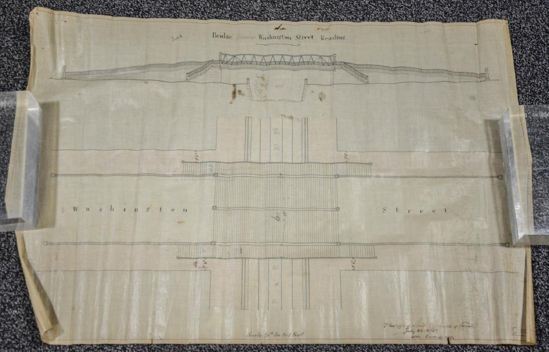 Philadelphia Area ephemera lot including railroad maps - 9