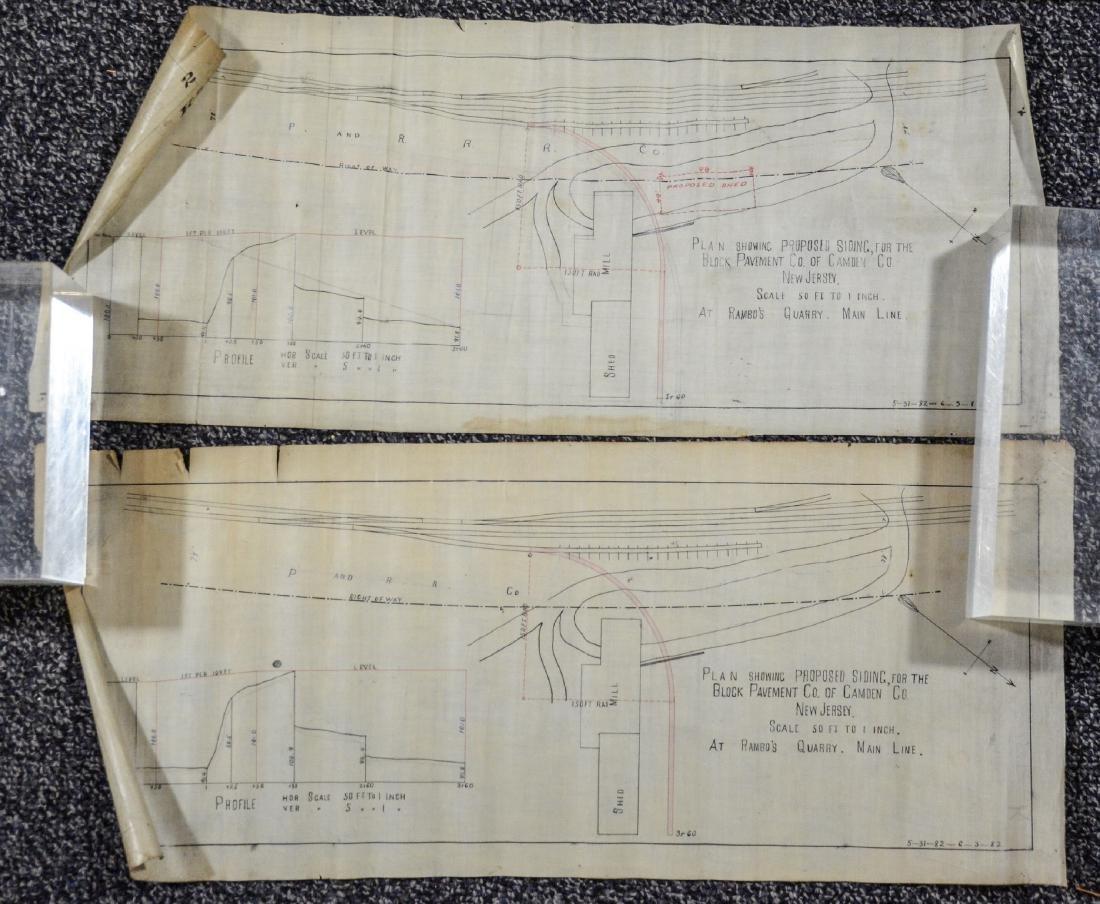 Philadelphia Area ephemera lot including railroad maps - 11