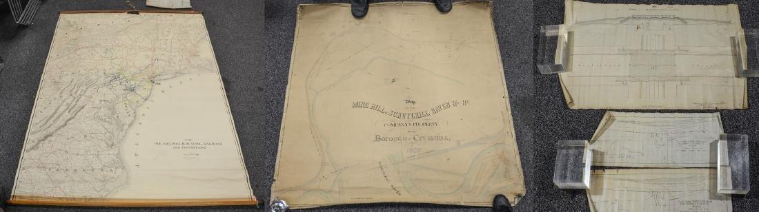 Philadelphia Area ephemera lot including railroad maps