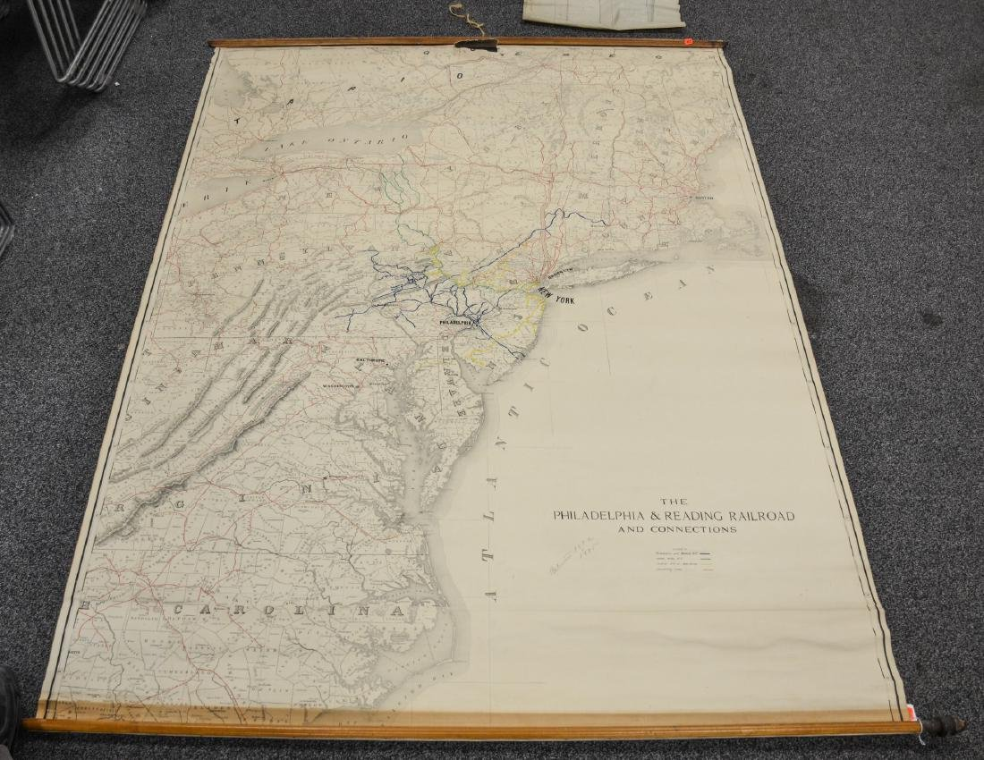 Philadelphia Area ephemera lot including railroad maps - 2