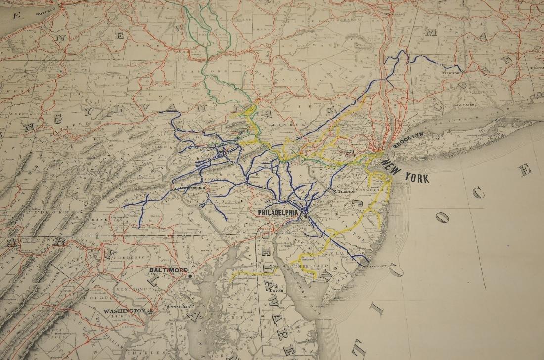 Philadelphia Area ephemera lot including railroad maps - 3