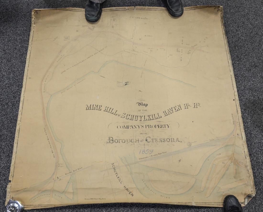 Philadelphia Area ephemera lot including railroad maps - 7