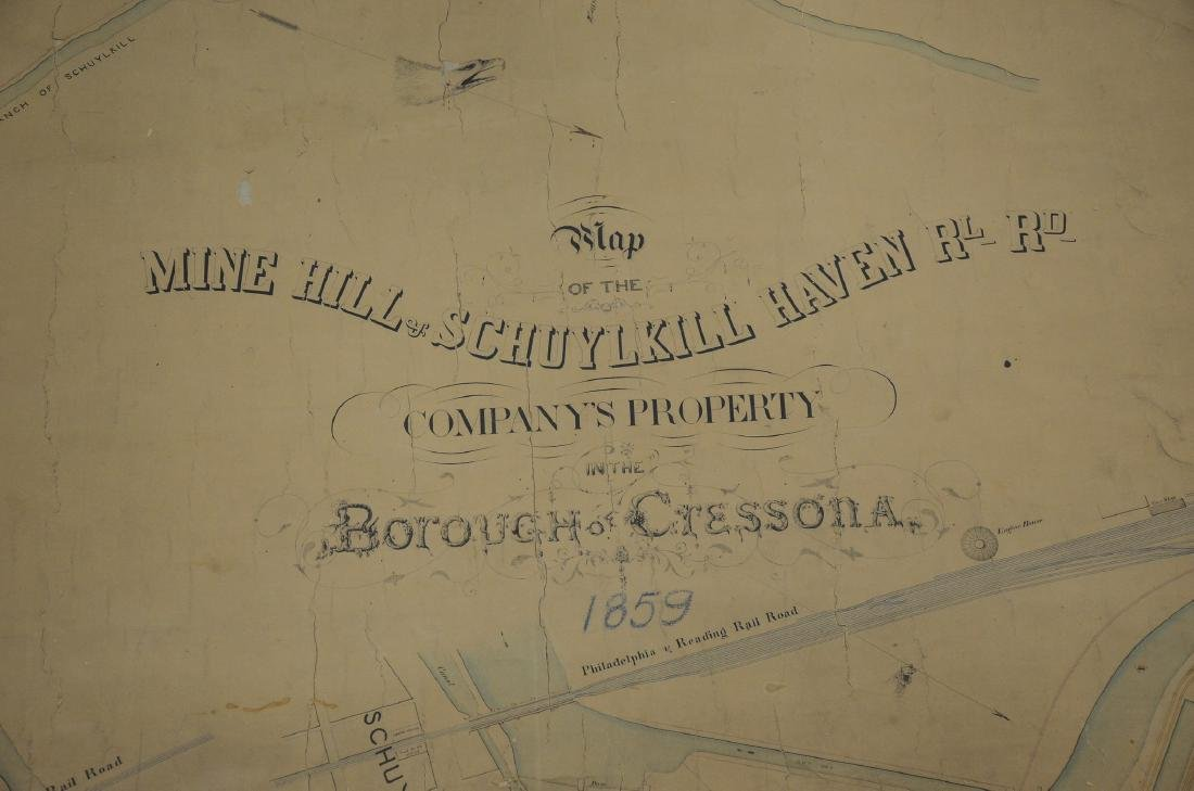 Philadelphia Area ephemera lot including railroad maps - 8