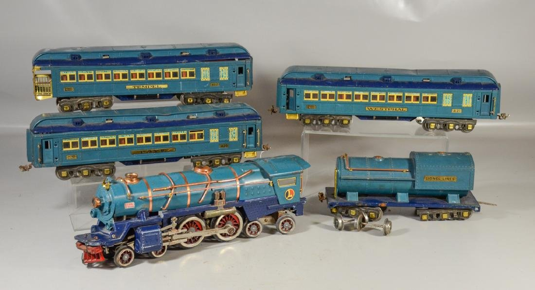 5 pc Lionel standard gauge Blue Comet Train set