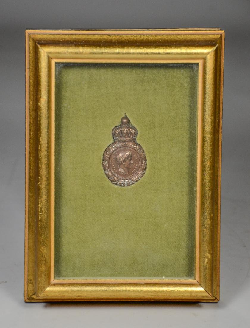 Napoleonic bronze medal with French inscription