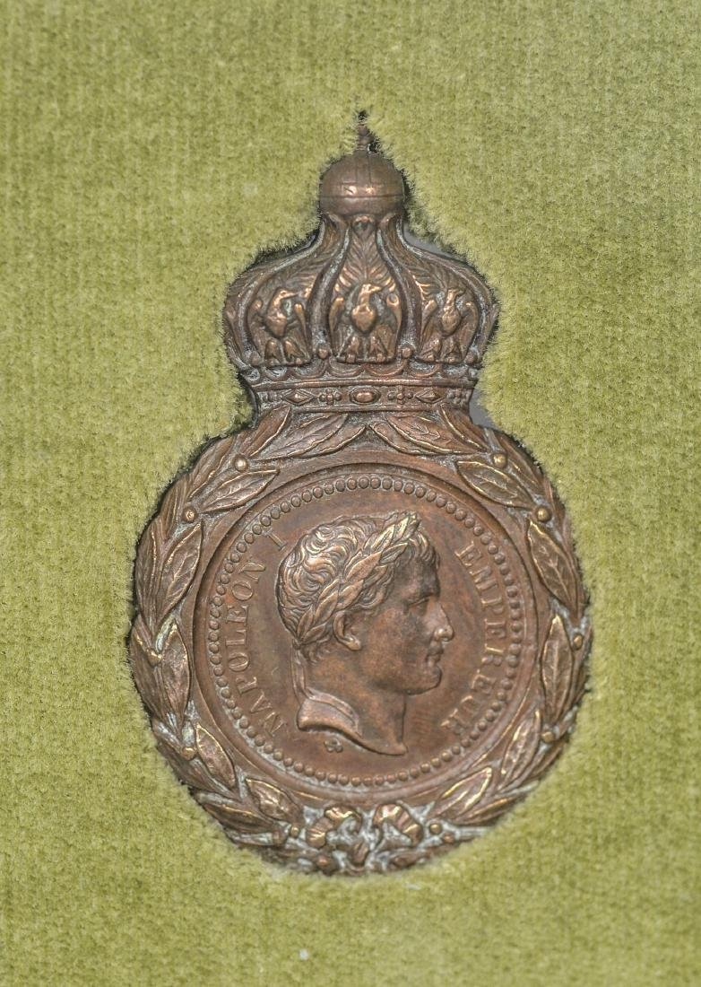 Napoleonic bronze medal with French inscription - 2