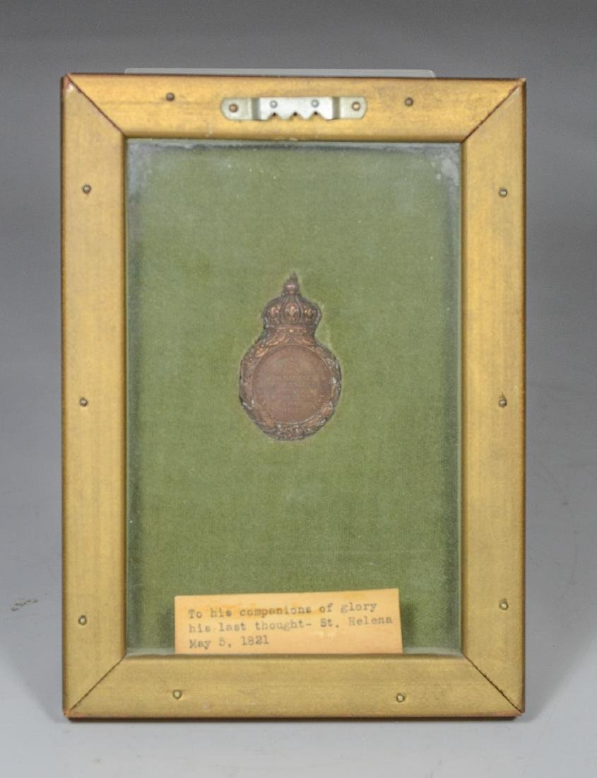 Napoleonic bronze medal with French inscription - 3