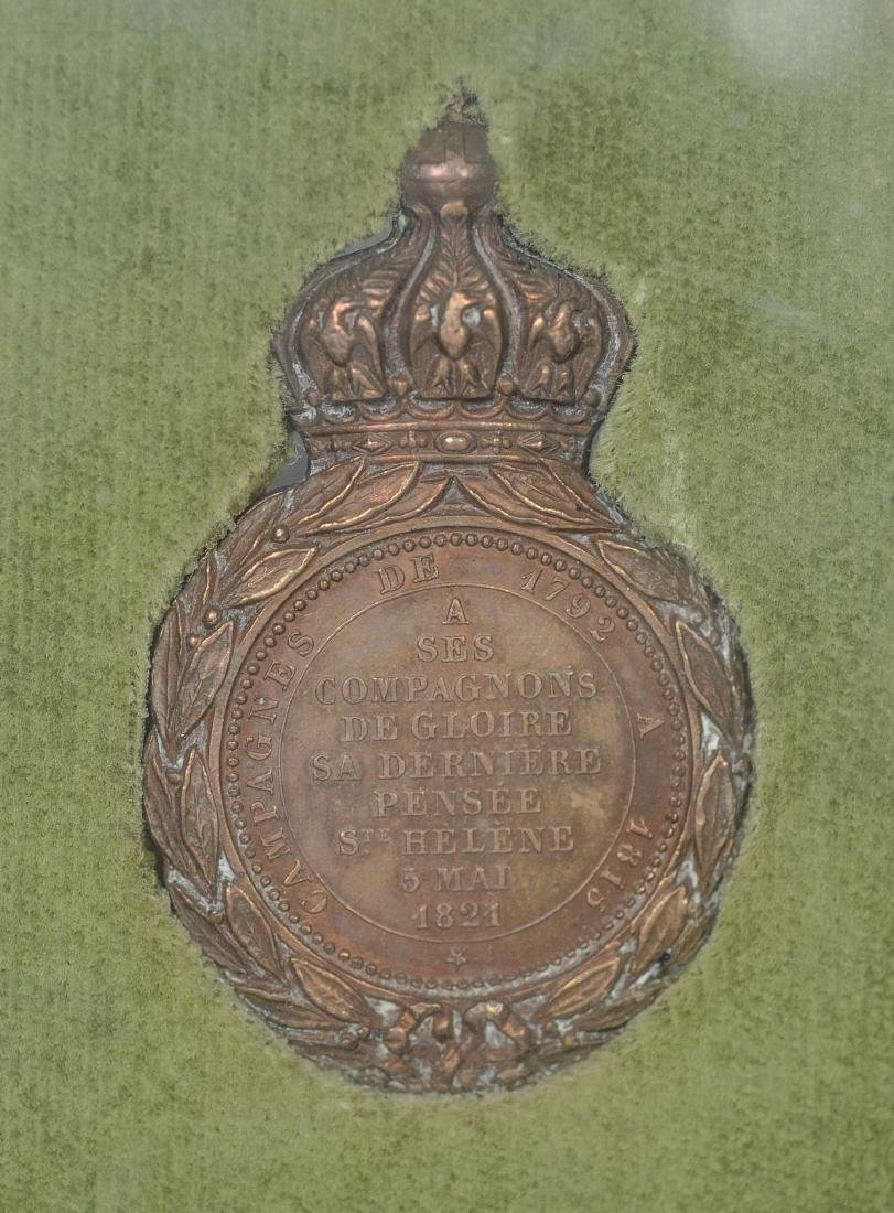 Napoleonic bronze medal with French inscription - 4