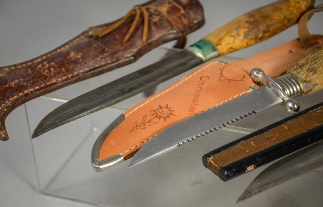 5 sheathed knives including 4 hunting knives, Japanese - 2