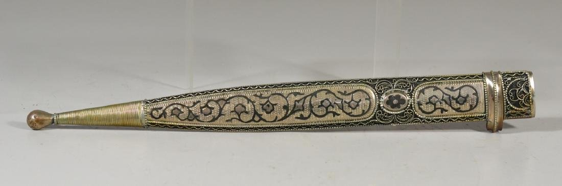 Georgian Cossack Kindjal, silver handle and sheath with - 3