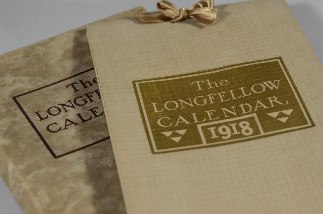 Lot of 9 miscellaneous pcs: 1918 Longfellow calendar, - 5
