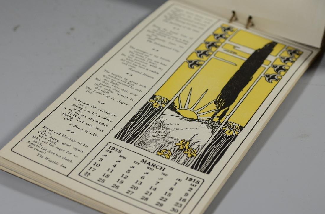 Lot of 9 miscellaneous pcs: 1918 Longfellow calendar, - 6