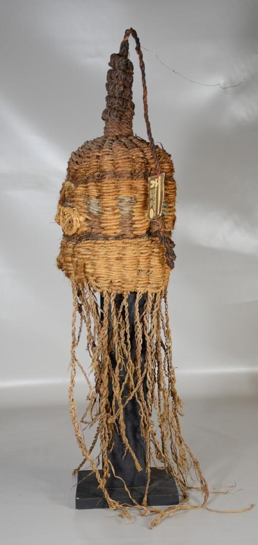 African primitive tribal helmet mask, Nairobi Kenya - 3