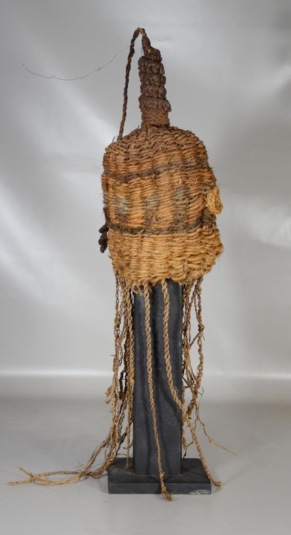 African primitive tribal helmet mask, Nairobi Kenya - 4