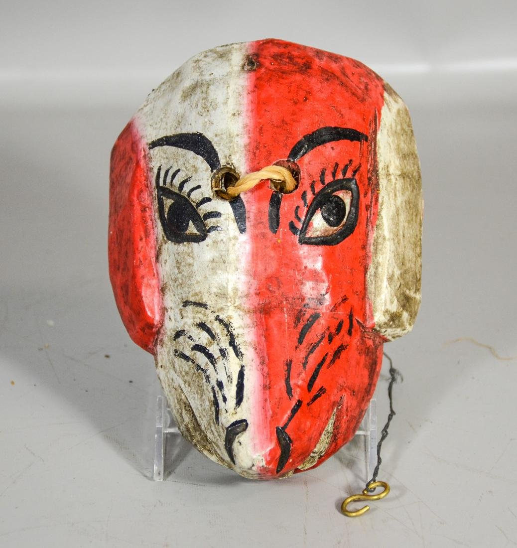 Guatemalan hand carved wood dog mask,  All Saints Day