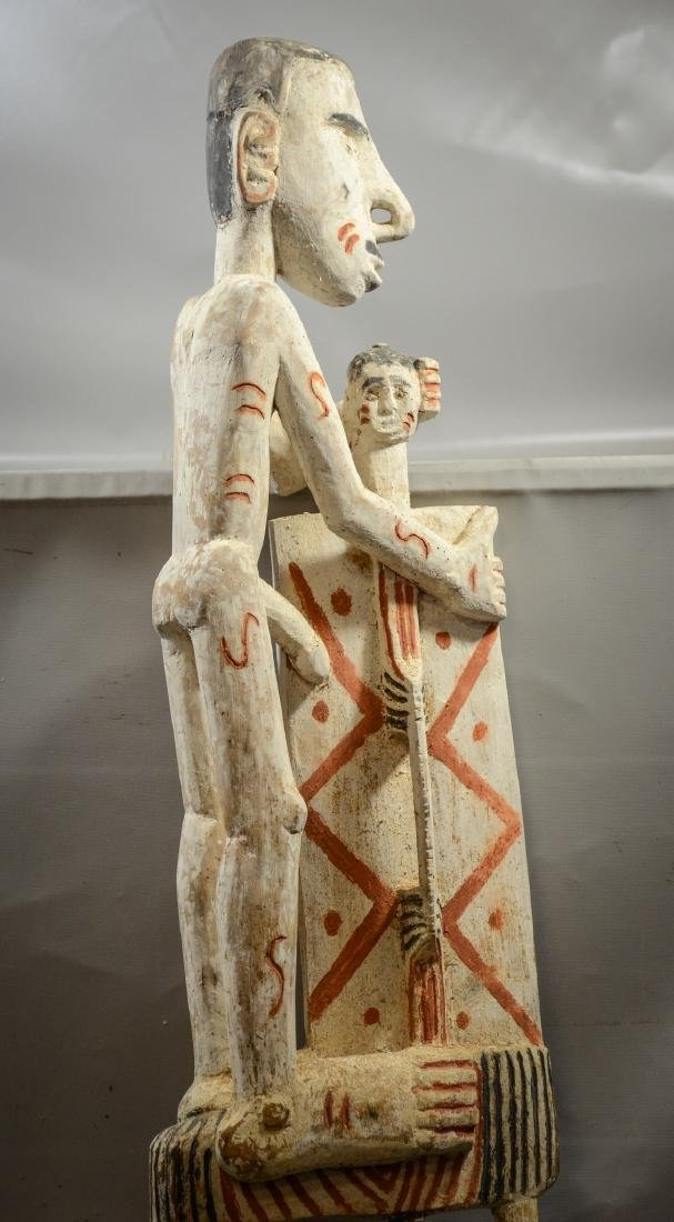 Papua New Guinea carved wooden totem pole, Irian Jaya - 2