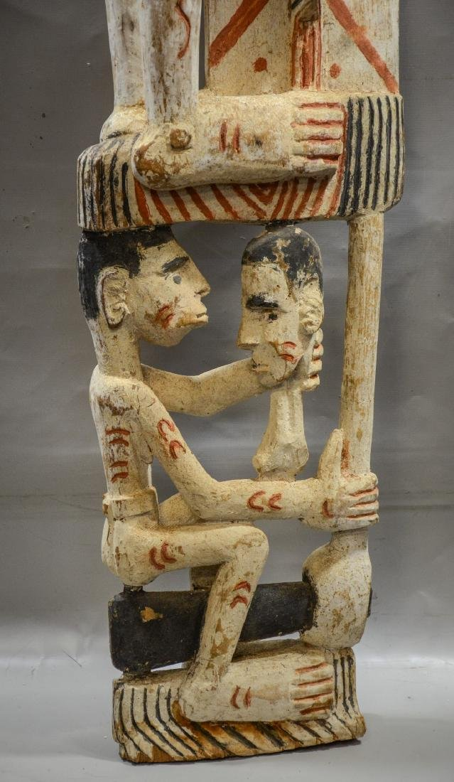 Papua New Guinea carved wooden totem pole, Irian Jaya - 3