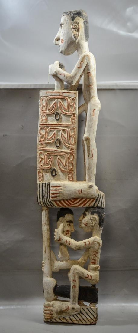 Papua New Guinea carved wooden totem pole, Irian Jaya - 4