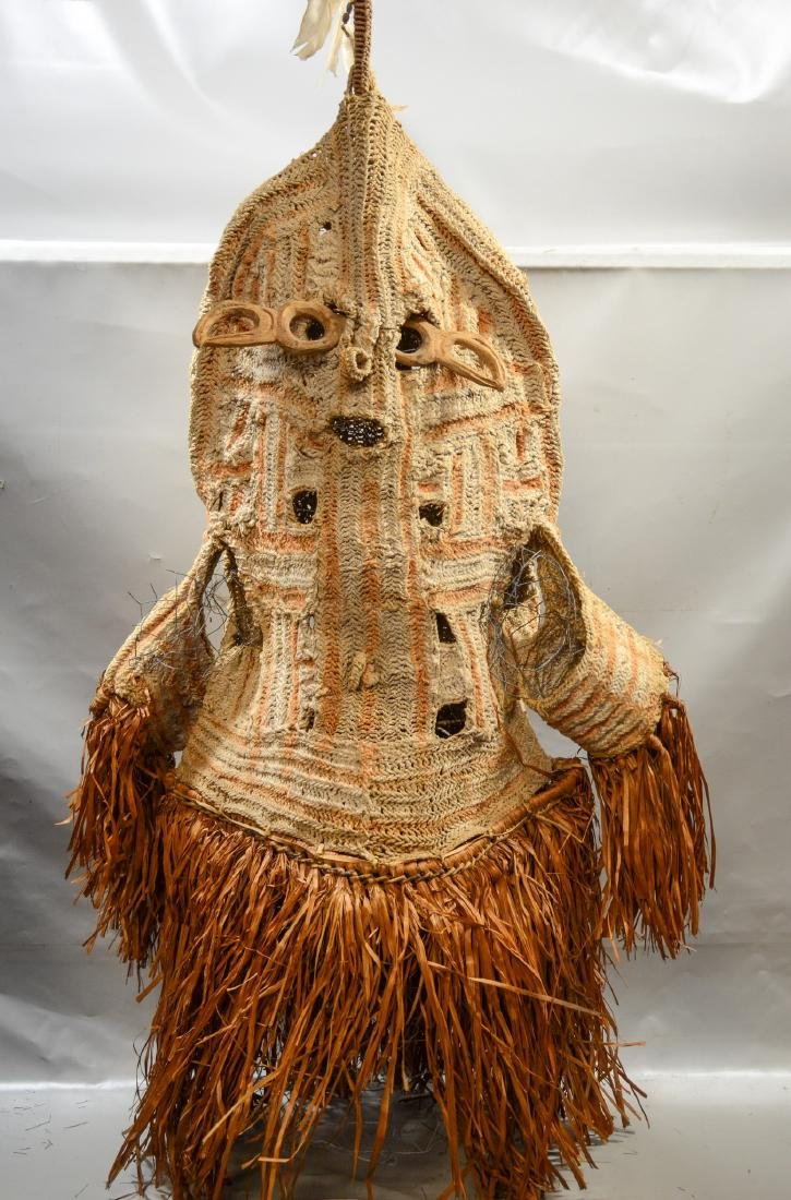 Papua New Guinea Det crocheted body mask, Smithsonian
