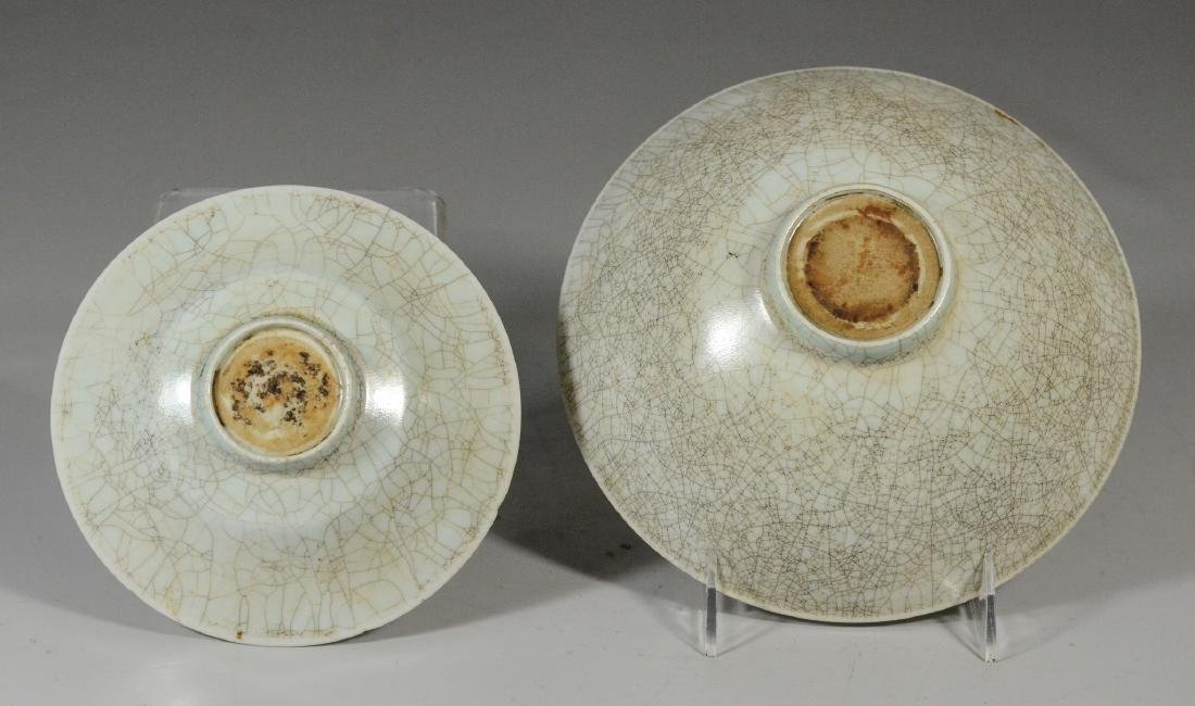 Two (2) Chinese Song style thinly potted bowls, one - 5