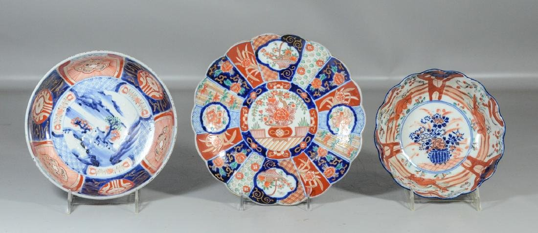 3 pcs Japanese Imari porcelain to include (2) bowls and