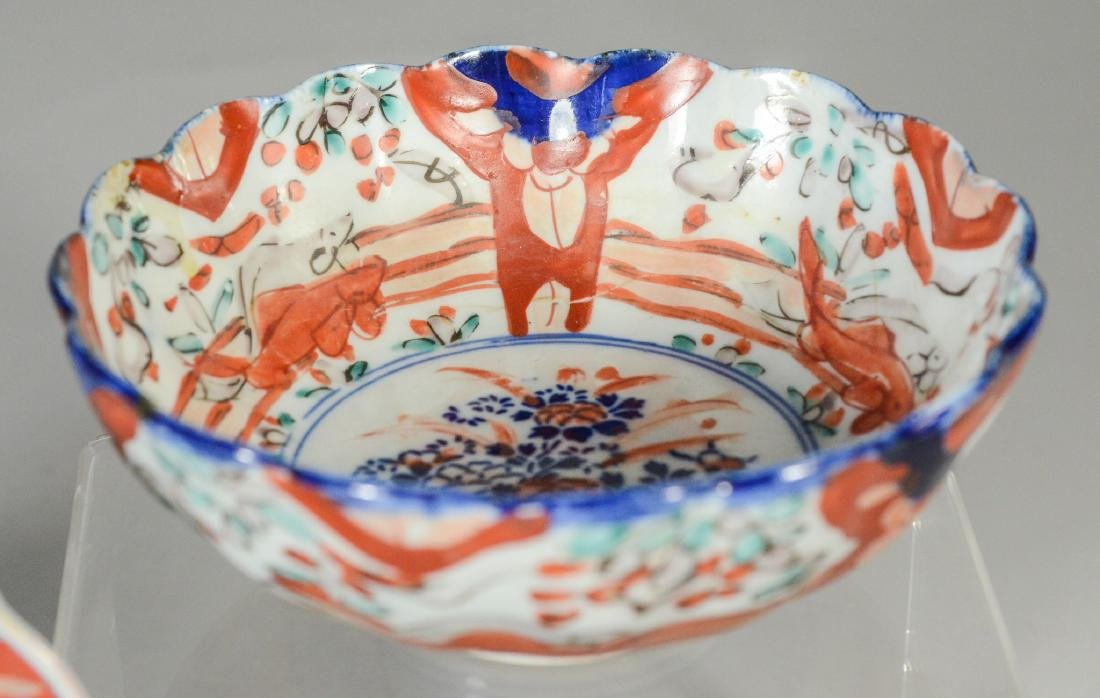 3 pcs Japanese Imari porcelain to include (2) bowls and - 7