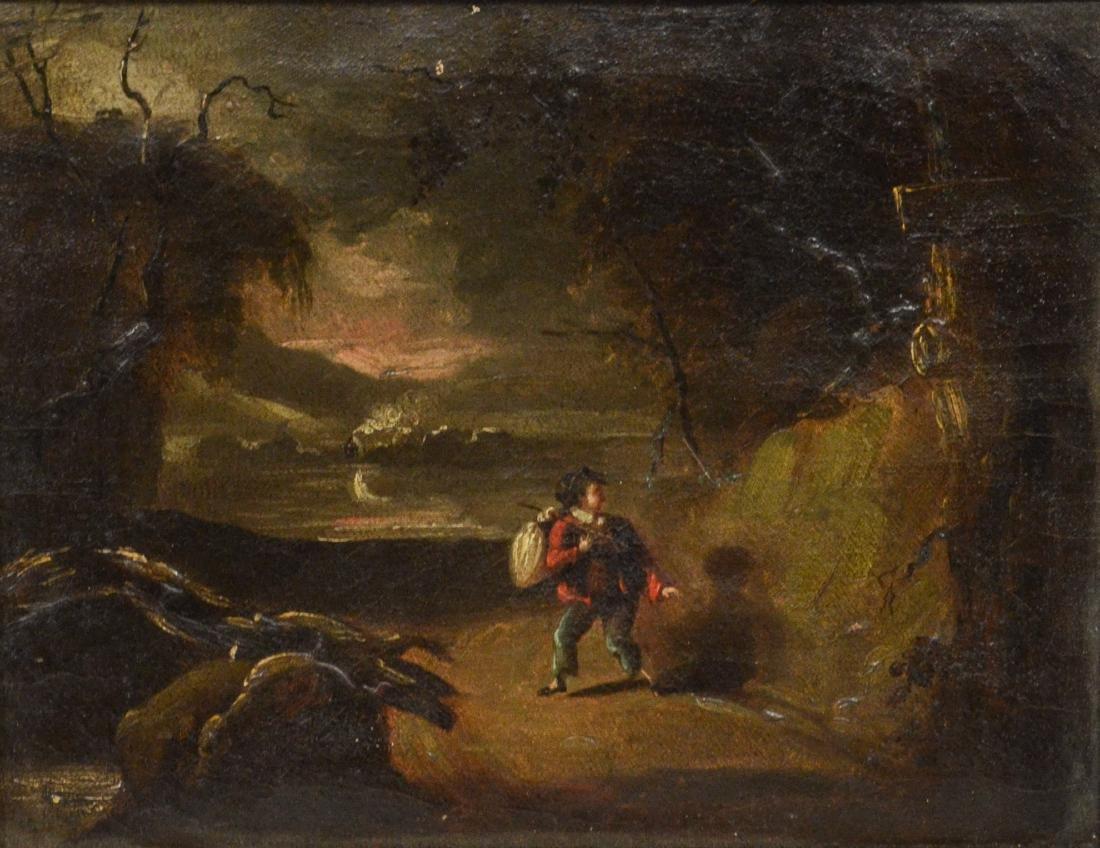 19th c Dutch Landscape, Oil on Canvas, unsigned,