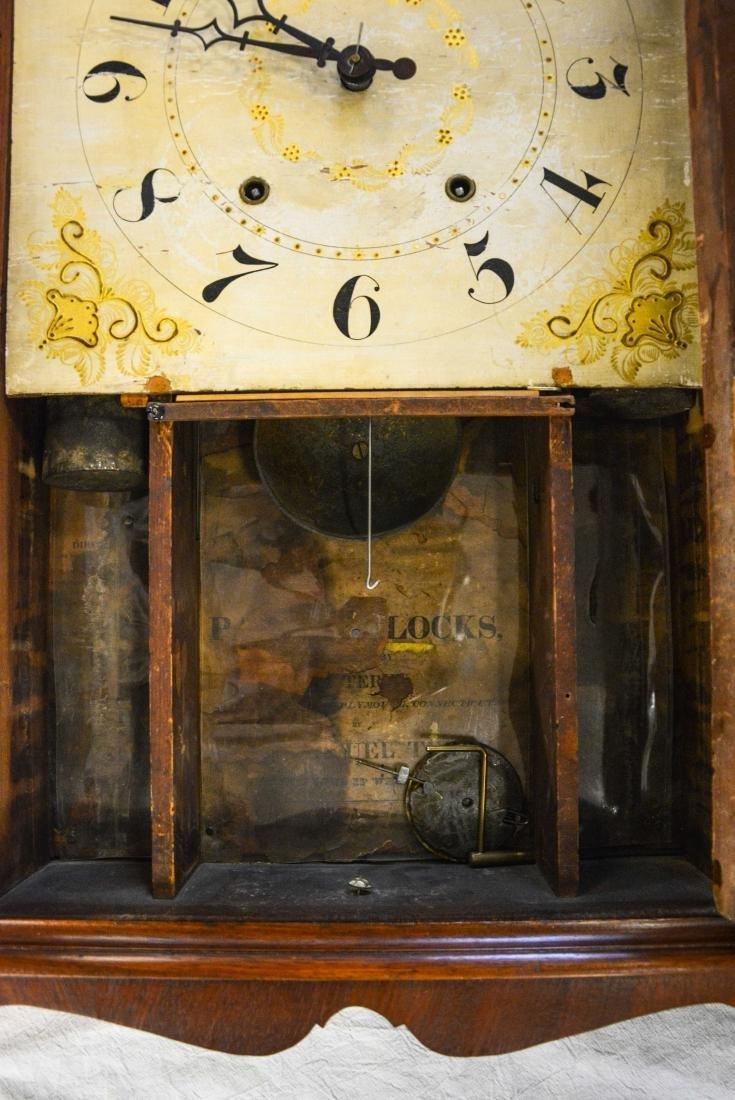 Samuel Terry mahogany pillar and scroll shelf clock, - 2