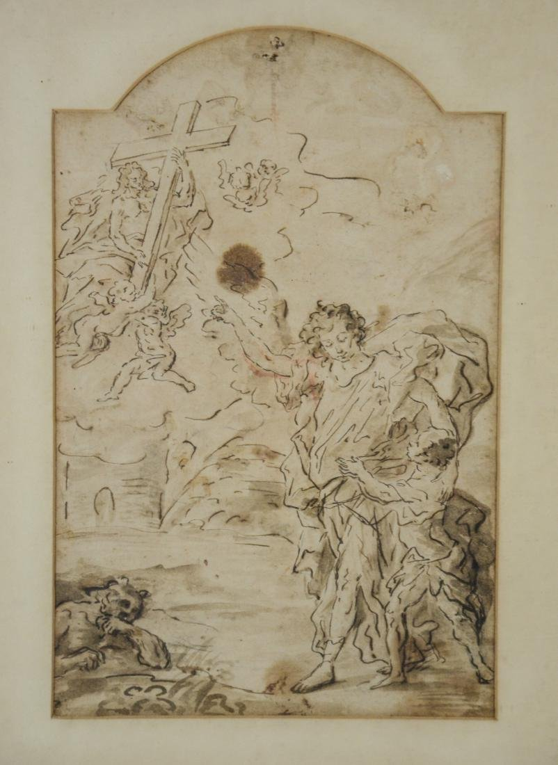 Old Master School, 17th/18th c, ink and wash on paper,