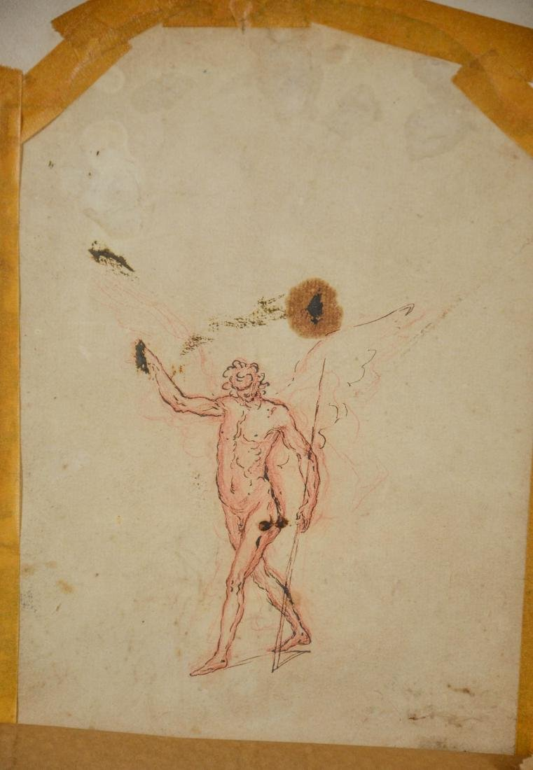 Old Master School, 17th/18th c, ink and wash on paper, - 4