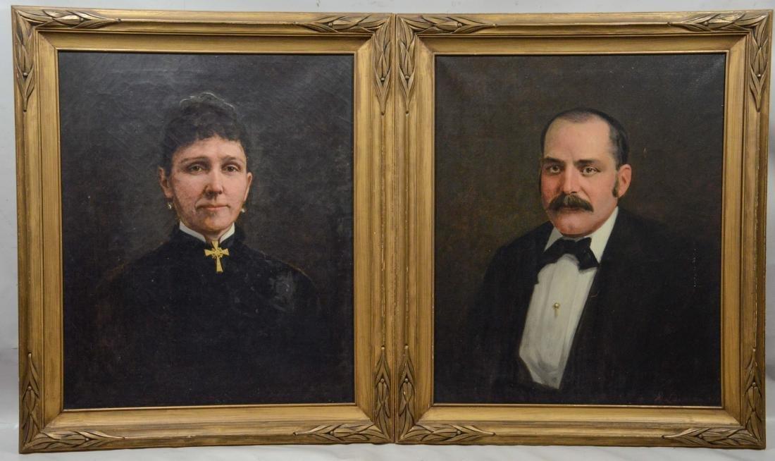Jasper Holman Lawman (American, 1825-1906), Pair of