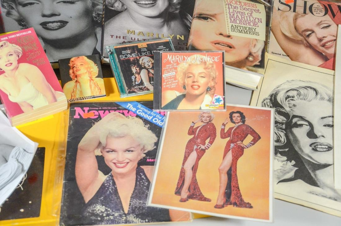 Marilyn Monroe memorabilia lot, including 2 DVDs, 6 - 3