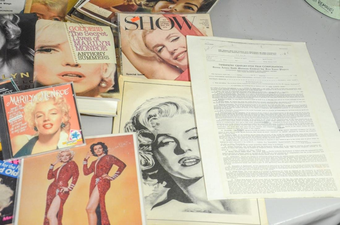 Marilyn Monroe memorabilia lot, including 2 DVDs, 6 - 4